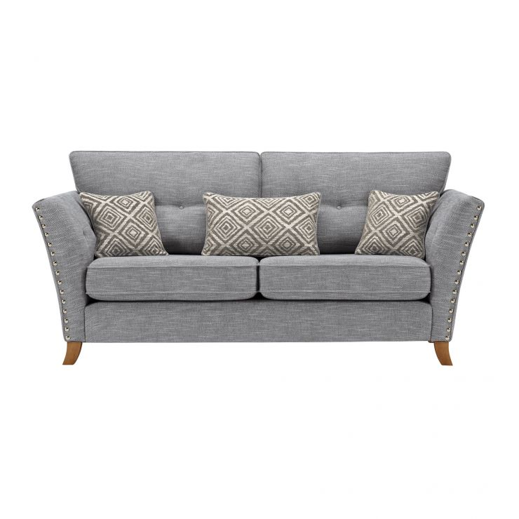 Grosvenor 3 Seater Sofa in Blue with Silver Scatters - Image 2