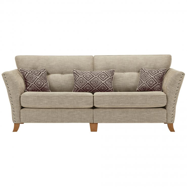 Grosvenor 4 Seater Sofa in Beige with Grey Scatters - Image 1