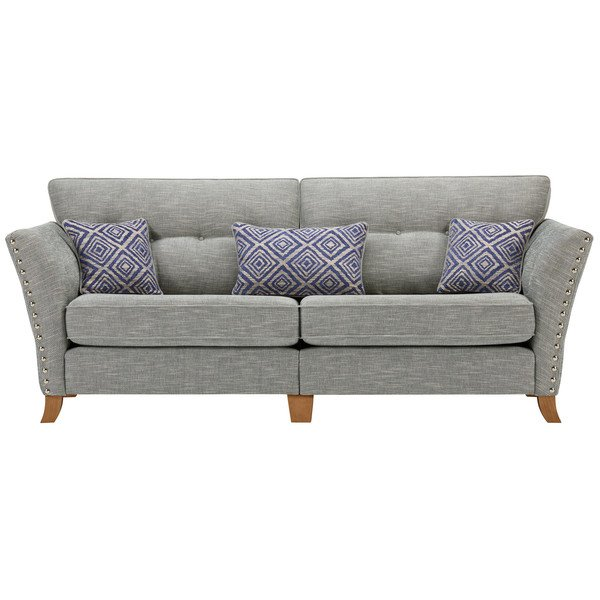 Grosvenor 4 Seater Sofa in Blue with Blue Scatters