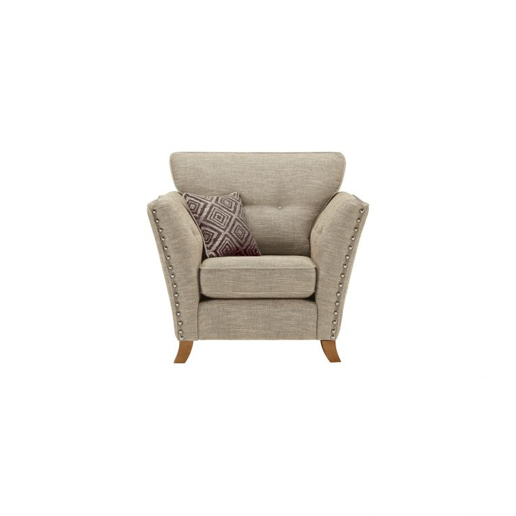 Grosvenor Armchair in Beige with Grey Scatters - Image 1