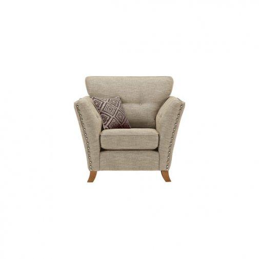 Grosvenor Armchair in Beige with Grey Scatters