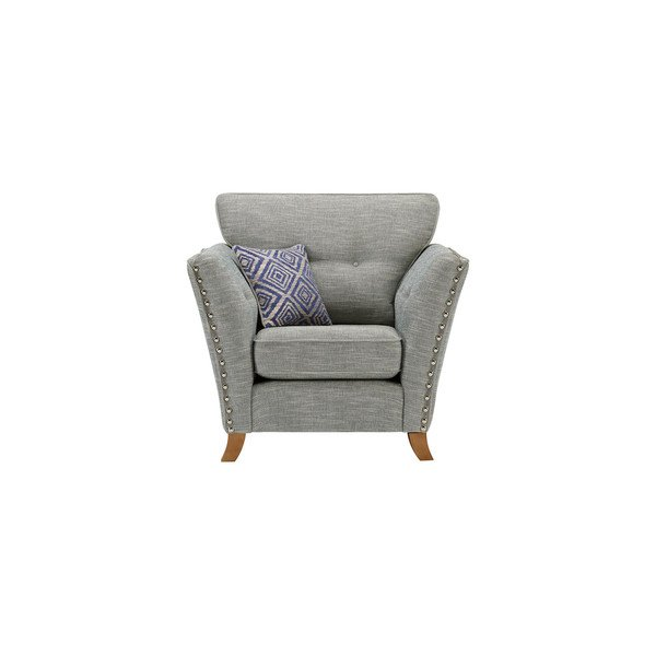 Grosvenor Armchair in Blue with Blue Scatters