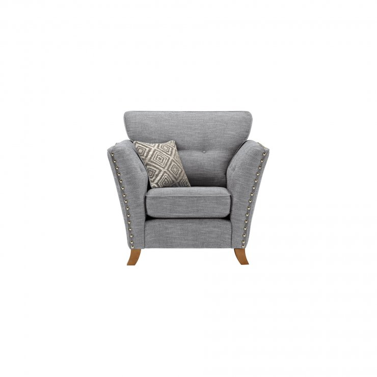 Grosvenor Armchair in Blue with Silver Scatters - Image 1