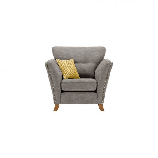 Grosvenor Armchair in Grey with Yellow Scatters