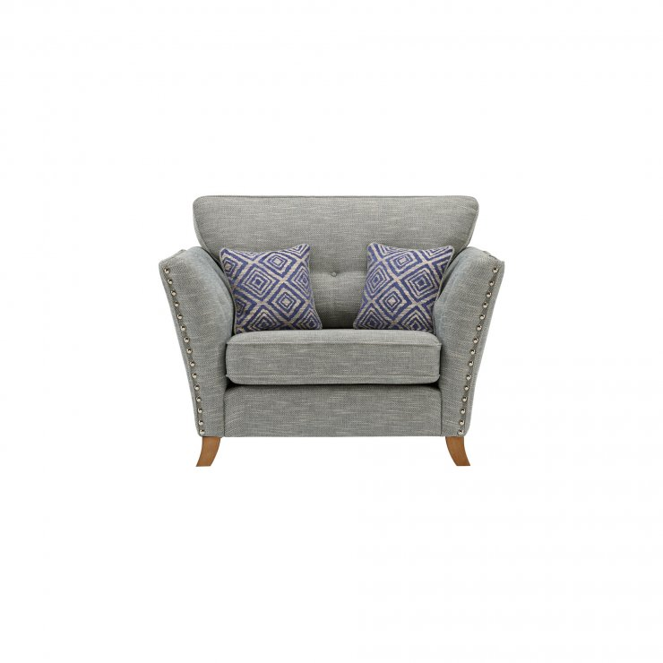Grosvenor Loveseat in Blue with Blue Scatters - Image 1