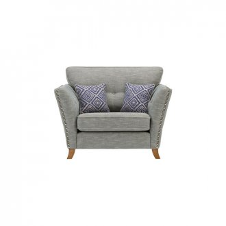 Grosvenor Loveseat in Blue with Blue Scatters