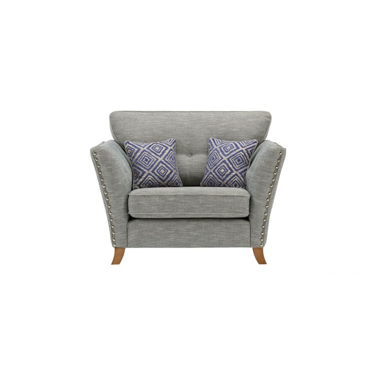 Grosvenor Loveseat in Blue with Blue Scatters - Image 2