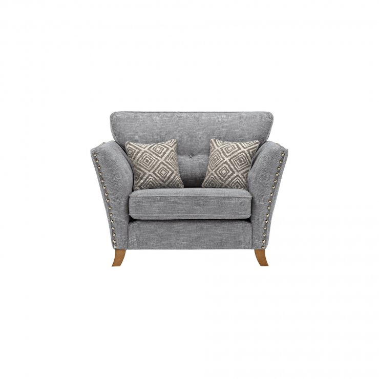 Grosvenor Loveseat in Blue with Silver Scatters - Image 1