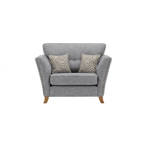 Grosvenor Loveseat in Blue with Silver Scatters