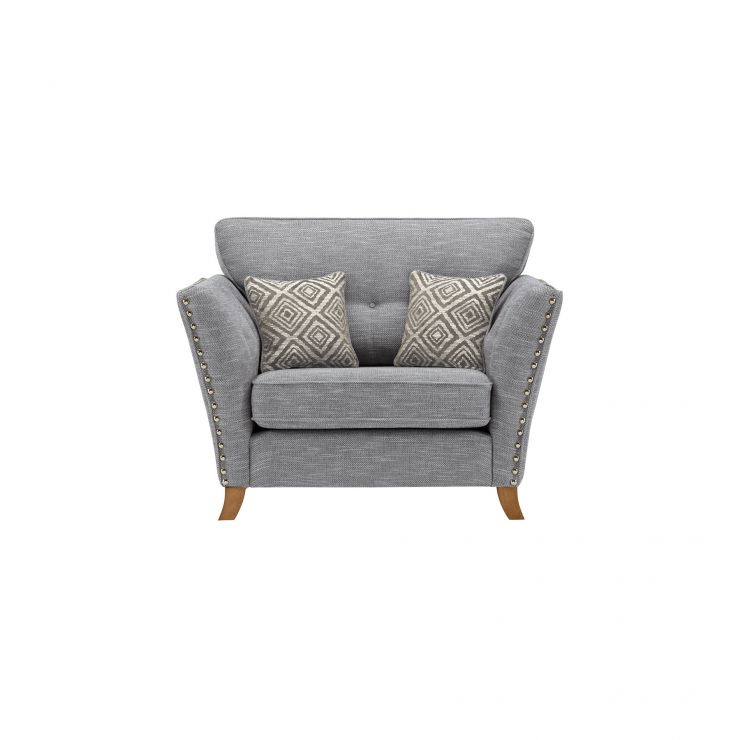 Grosvenor Loveseat in Blue with Silver Scatters - Image 2