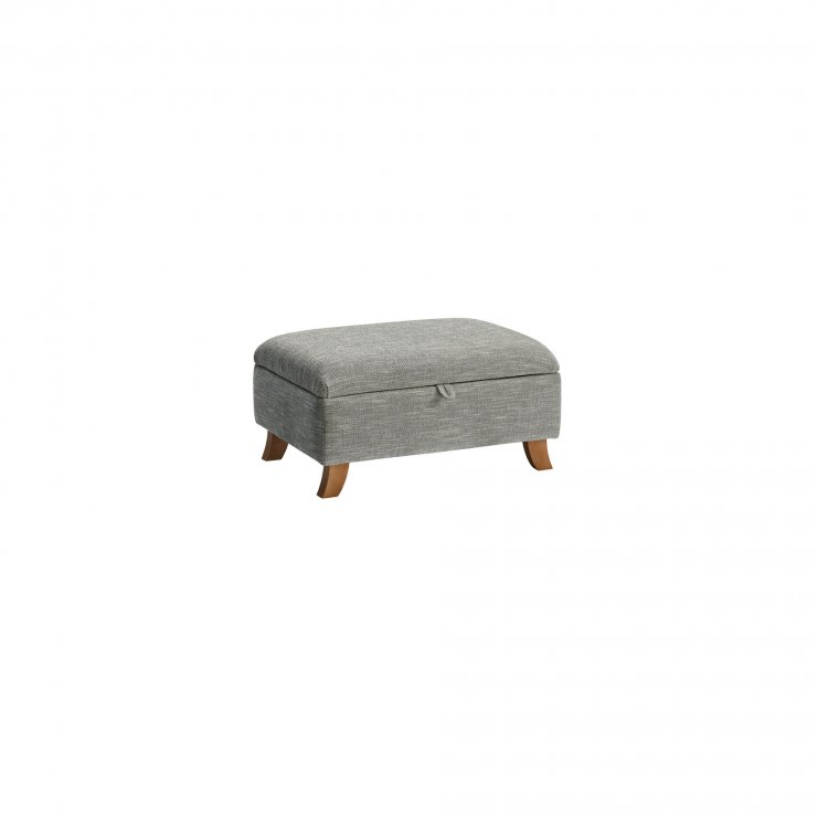 Grosvenor Storage Footstool in Blue - Image 2