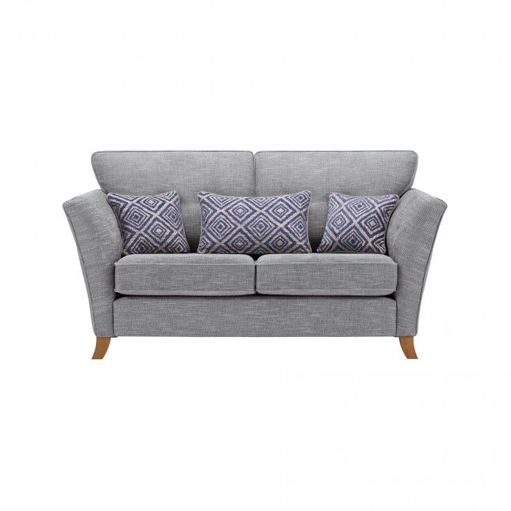 Grosvenor Traditional 2 Seater Sofa in Blue with Blue Scatters - Image 1