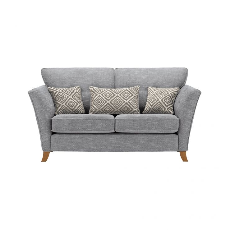 Grosvenor Traditional 2 Seater Sofa in Blue with Silver Scatters - Image 1