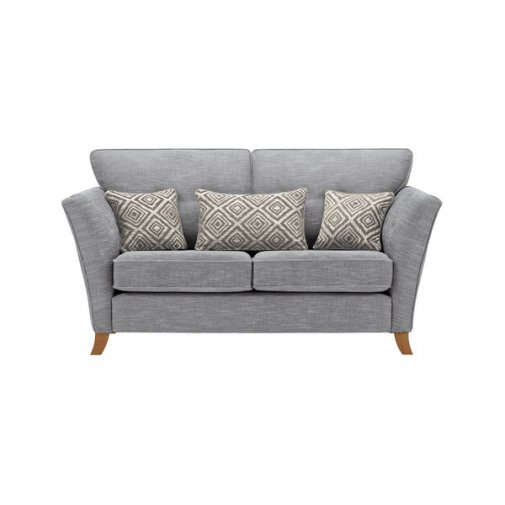 Grosvenor Traditional 2 Seater Sofa in Blue with Silver Scatters