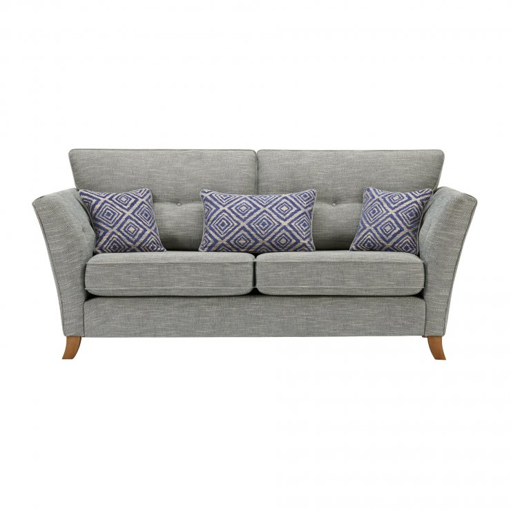 Grosvenor Traditional 3 Seater Sofa in Blue with Blue Scatters - Image 1