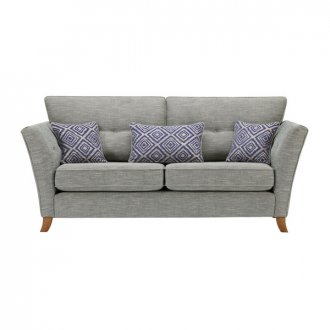 Grosvenor Traditional 3 Seater Sofa in Blue with Blue Scatters