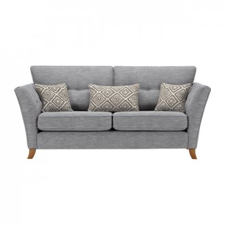 Grosvenor Traditional 3 Seater Sofa in Blue with Silver Scatters