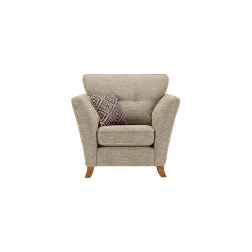 Grosvenor Traditional Armchair in Beige with Grey Scatters