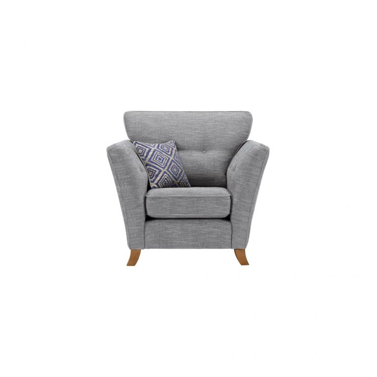Grosvenor Traditional Armchair in Blue with Blue Scatters - Image 1