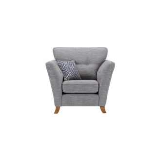 Grosvenor Traditional Armchair in Blue with Blue Scatters