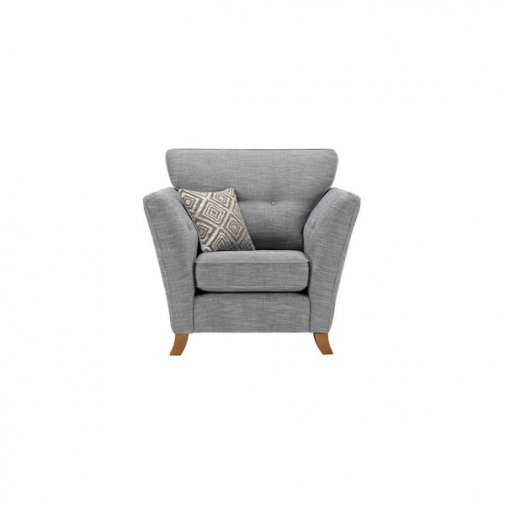 Grosvenor Traditional Armchair in Blue with Silver Scatters