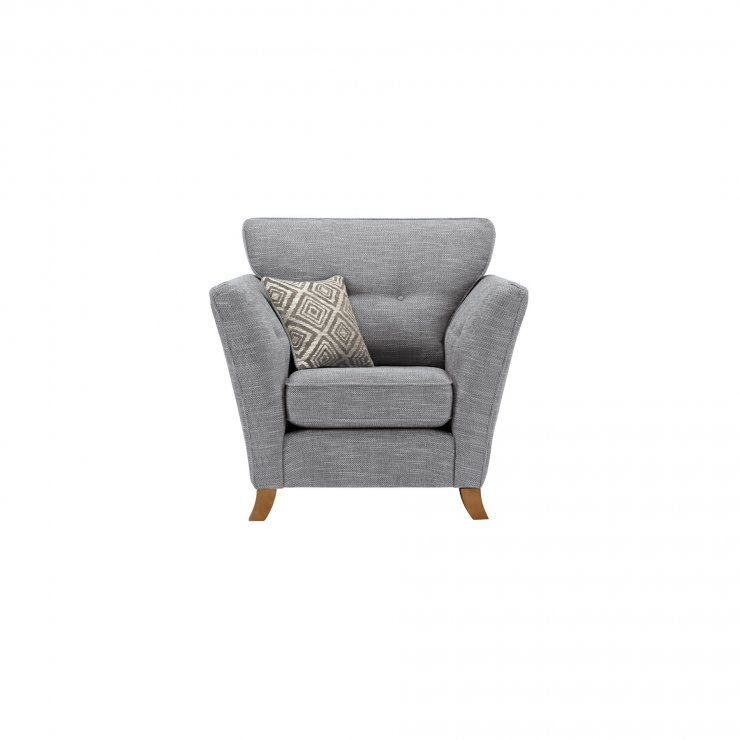 Grosvenor Traditional Armchair in Blue with Silver Scatters - Image 1