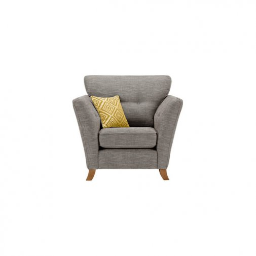 Grosvenor Traditional Armchair in Grey with Yellow Scatters
