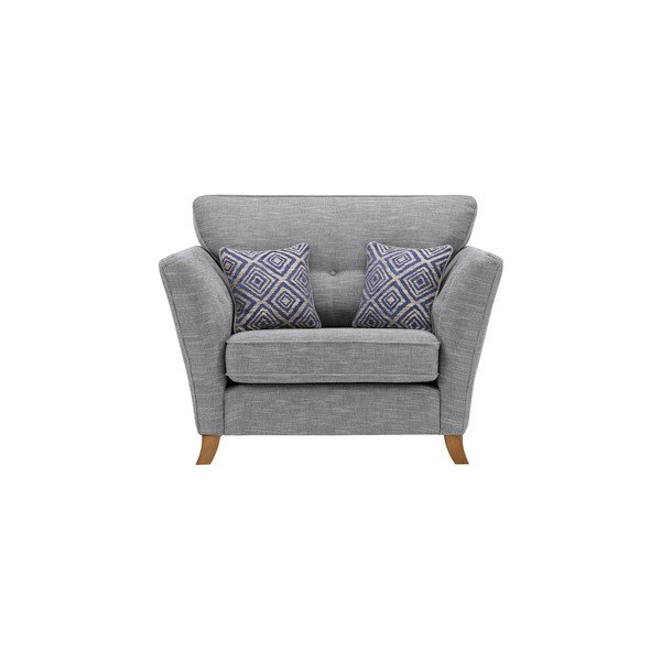 Grosvenor Traditional Loveseat in Blue with Blue Scatters