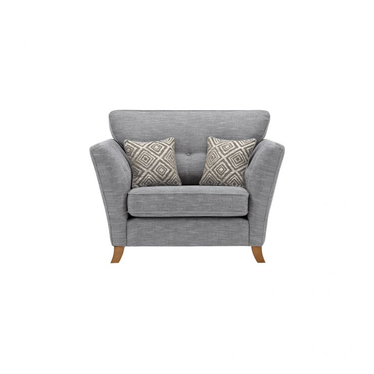 Grosvenor Traditional Loveseat in Blue with Silver Scatters - Image 1