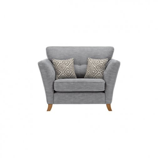 Grosvenor Traditional Loveseat in Blue with Silver Scatters