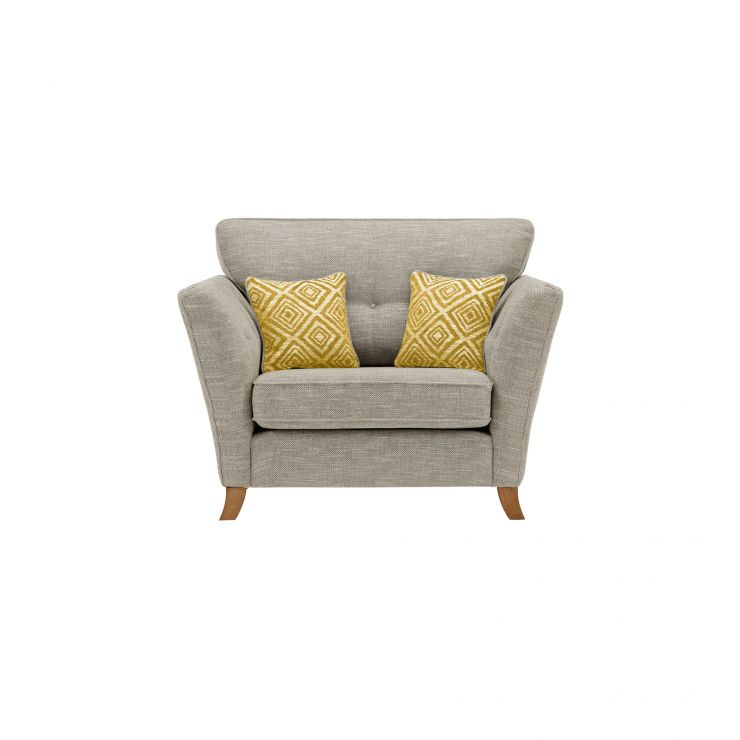 Grosvenor Traditional Loveseat in Silver with Yellow Scatters - Image 1