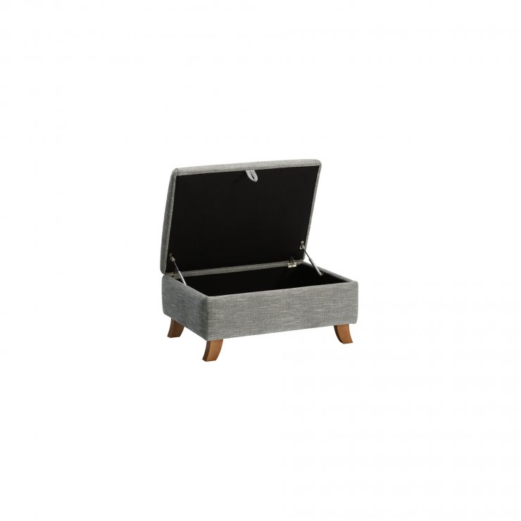 Grosvenor Traditional Storage Footstool in Blue