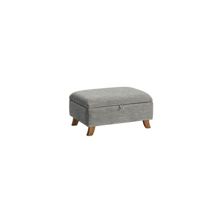 Grosvenor Traditional Storage Footstool in Blue - Image 3