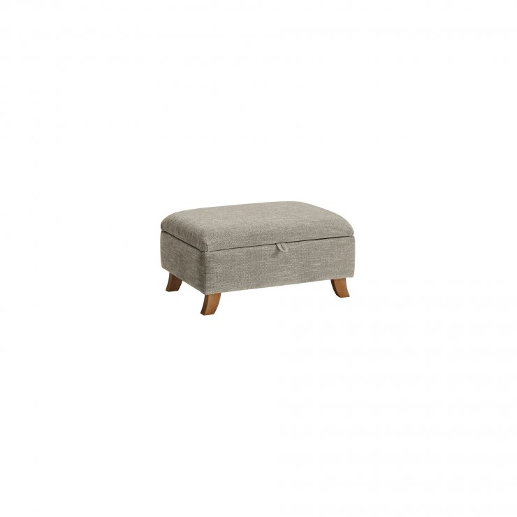 Grosvenor Traditional Storage Footstool in Silver - Image 2