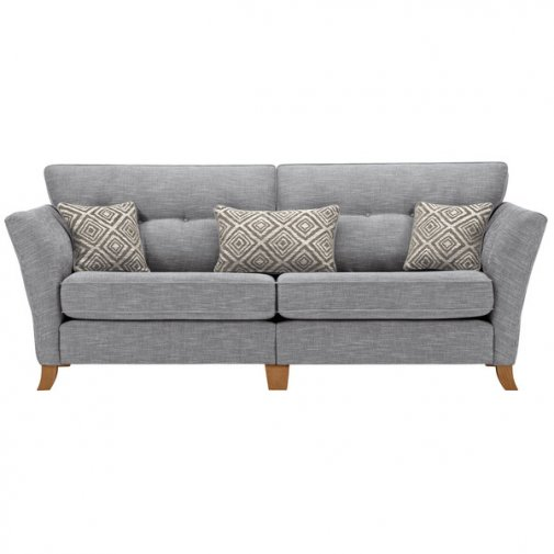 Grosvenor Traditional 4 Seater Sofa in Blue with Silver Scatters