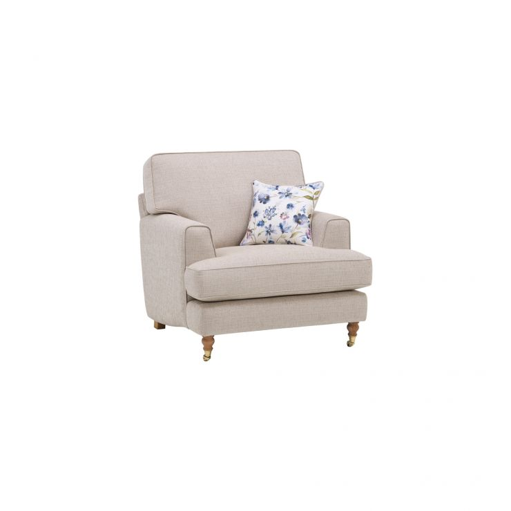 Hampstead Armchair in Beige with Floral Scatters