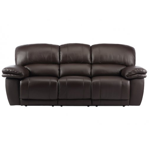 Harley 3 Seater Sofa with 2 Electric Recliners - Brown leather