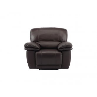 Harley Armchair with Electric Recliner - Brown Leather