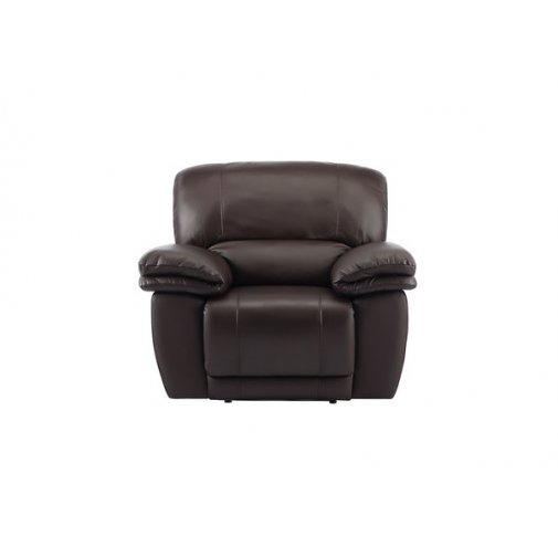 Harley Armchair with Manual Recliner - Brown Leather