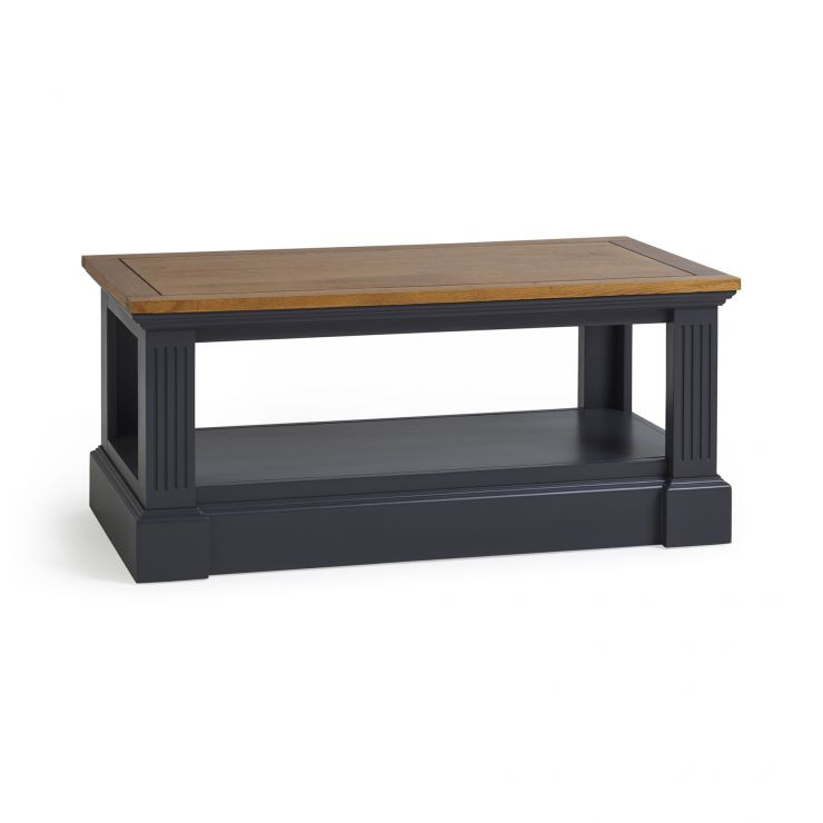 Highgate Rustic Oak and Blue Painted Hardwood Coffee Table