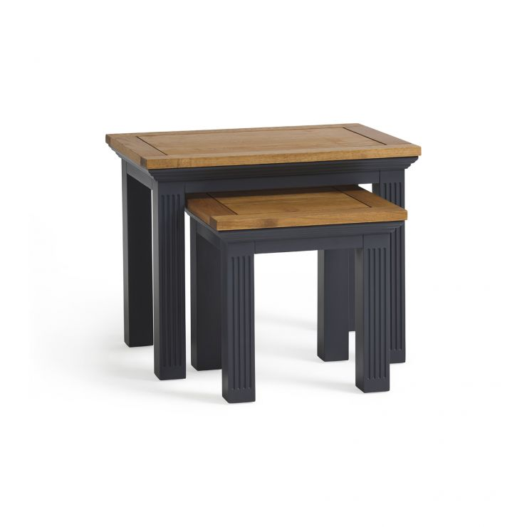 Highgate Rustic Oak and Painted Hardwood Nest of Tables