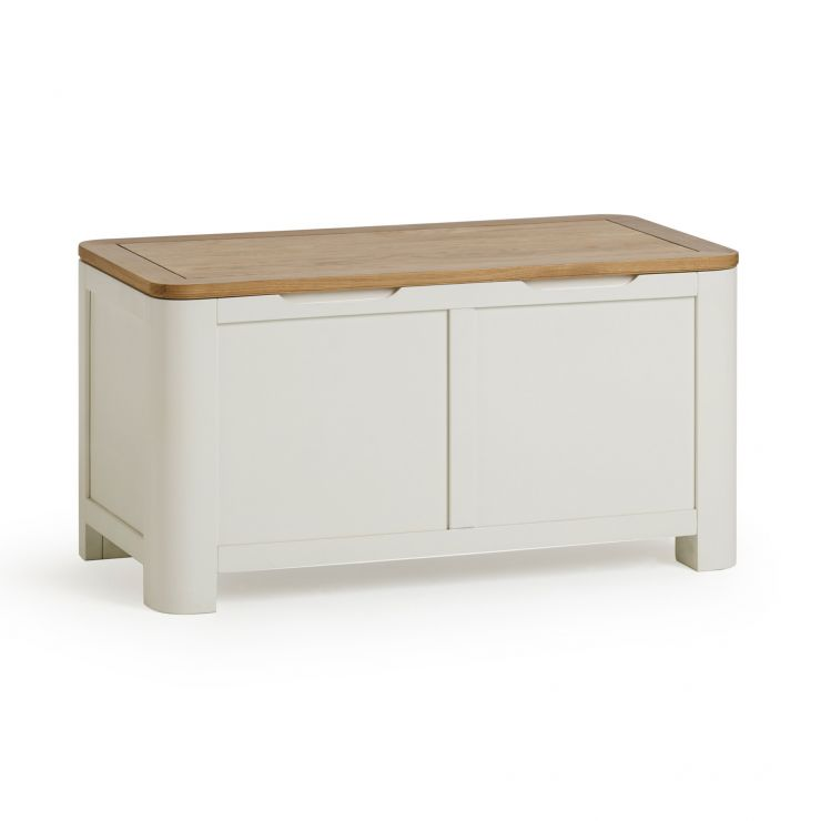 Hove Natural Oak and Painted Blanket Box
