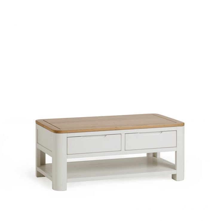 Hove Natural Oak and Painted Coffee Table