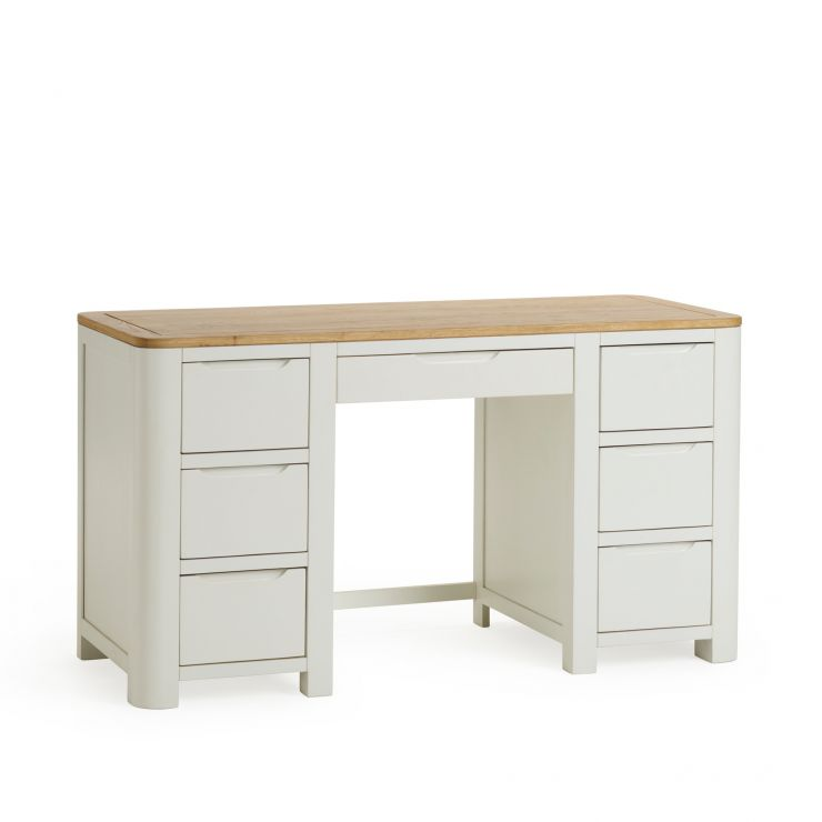 Hove Natural Oak and Painted Computer Desk