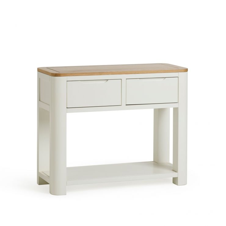 Hove Natural Oak and Painted Console Table