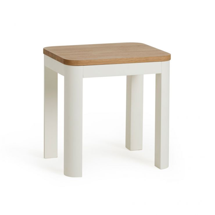 Hove Natural Oak and Painted Dressing Table Stool