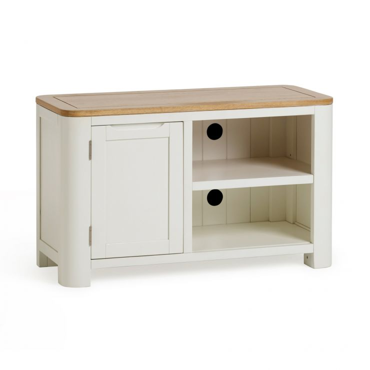 Hove Natural Oak and Painted Small TV Unit