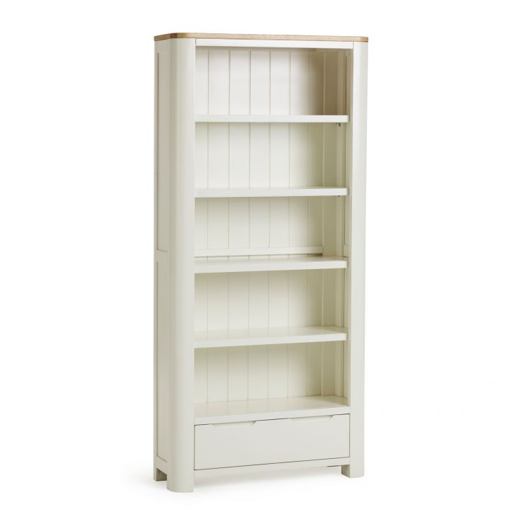 Hove Natural Oak and Painted Tall Bookcase