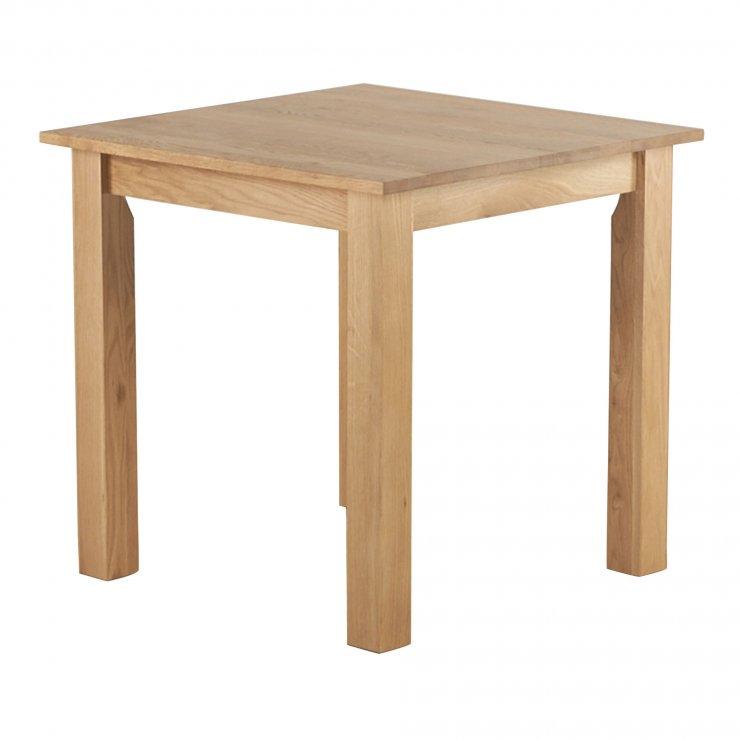 "Hudson Natural Solid Oak 2ft 6"" x 2ft 6"" Square Dining Table - Image 2"