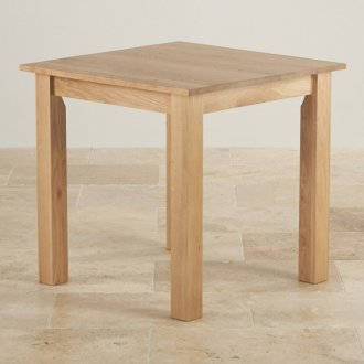 "Hudson Natural Solid Oak 2ft 6"" x 2ft 6"" Square Dining Table"